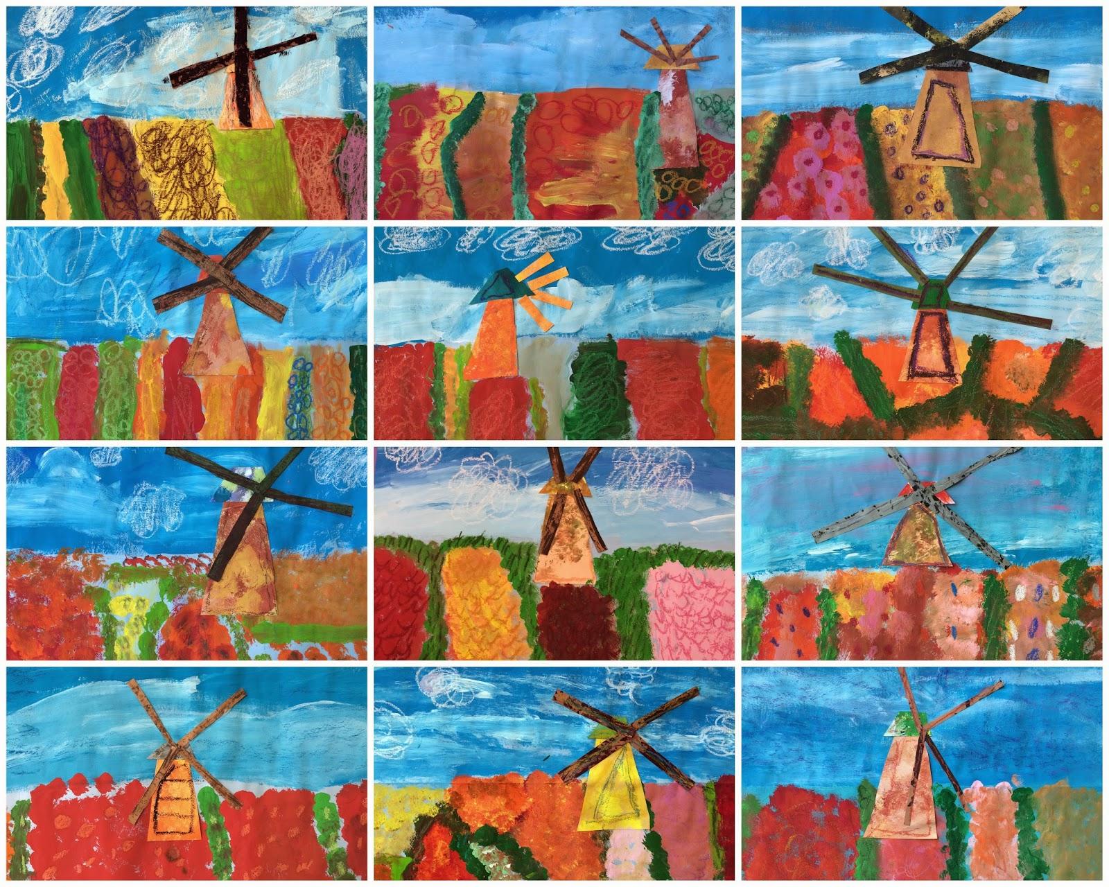 Monet's Windmill Tulips